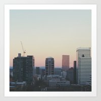 portland Art Prints featuring Portland by Hannah Kemp