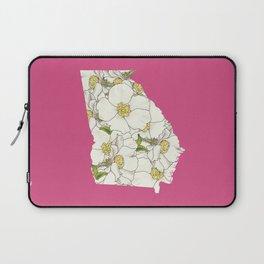 Georgia in Flowers Laptop Sleeve
