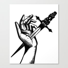 Wrapped Around Your Finger // Wrapped Around My Knife Canvas Print