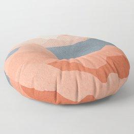 Spectacular landscape mid century art Floor Pillow