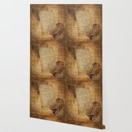 Two Hearts are One - Vintage Romantic Steampunk Art Wallpaper