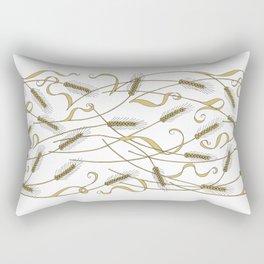 Art Nouveau - Scattered Wheat Rectangular Pillow