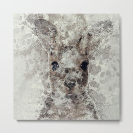 The Rabbit Metal Print