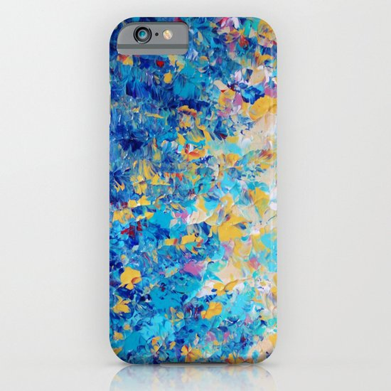 HYPNOTIC BLUE SUNSET - Simply Beautiful Royal Blue Navy Turquoise Aqua Sunrise Abstract Nature Decor iPhone & iPod Case