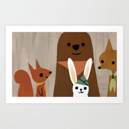 Forest Scouts Art Print