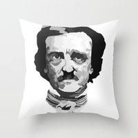 poe Throw Pillows featuring Poe by Brandi St. Romain
