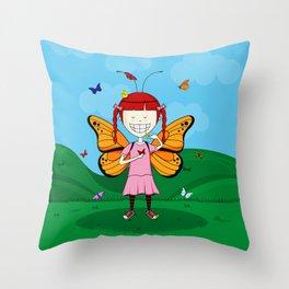 i heart butterflies Throw Pillow