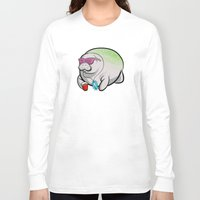 manatee Long Sleeve T-shirts featuring Party Manatee by Theo Nicole Lorenz