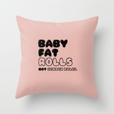 CHUBBY BABY in New York Throw Pillow