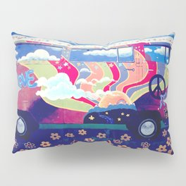 Hippie Camper Van Pillow Sham