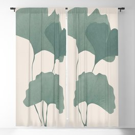 Ginko Leaves Blackout Curtain