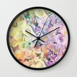 Vintage Soft Pastel Floral Abstract Wall Clock