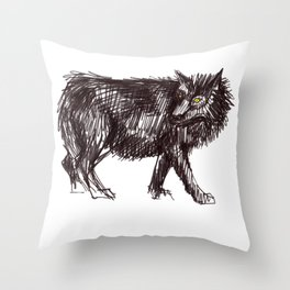 In Every Story the Wolf Comes At Last Throw Pillow