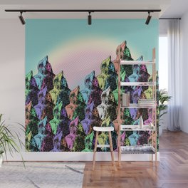 Contra Mundum Rainbow Magpies! Wall Mural