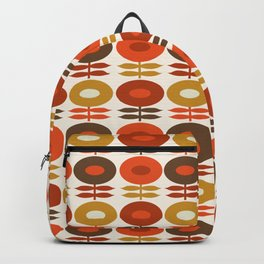 Primo - 70s style retro florals minimal 1970s trend flower Backpack