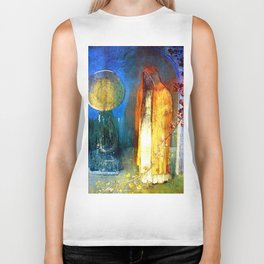 "Odilon Redon ""The Yellow Cape"" Biker Tank"