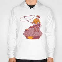 western Hoodies featuring Spaghetti Western by Tom Burns