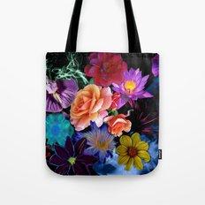Colorful Fractal Flowers Tote Bag