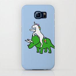 Unicorn Riding Triceratops iPhone Case