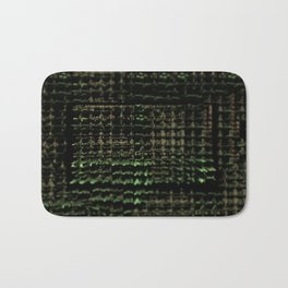 Intricate pattern web bright network element futuristic background Bath Mat