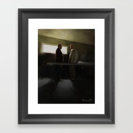 Hank vs Heisenberg Framed Art Print