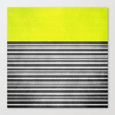 Yellow Gray Stripes Canvas Print