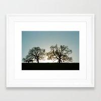 palo alto Framed Art Prints featuring Palo Alto Sunset by David Louis Klein