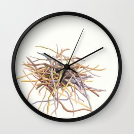 Pile of sticks Wall Clock