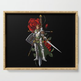 Strong Female Knight | Rose and Dagger Serving Tray