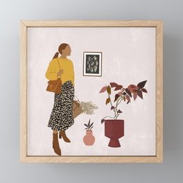 Hanging Out With Plants Framed Mini Art Print