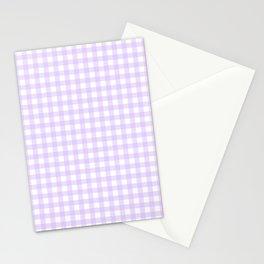 Lavender Gingham Stationery Cards