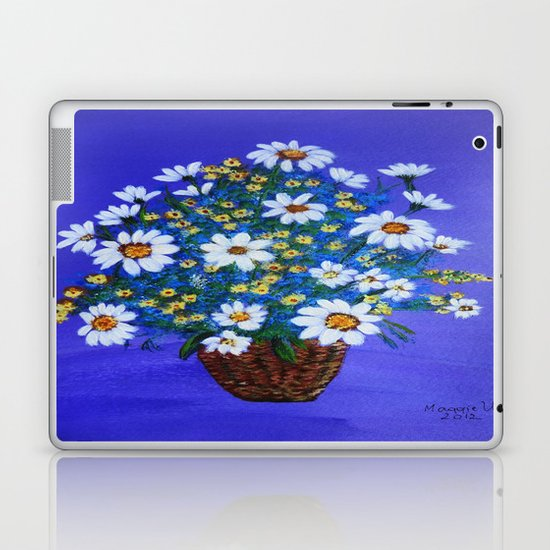 Flowers in the basket Laptop & iPad Skin