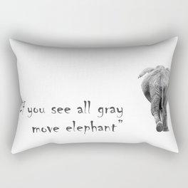 Elephant and aphorisms Rectangular Pillow
