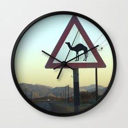 Camel Crossing Dubai  Wall Clock