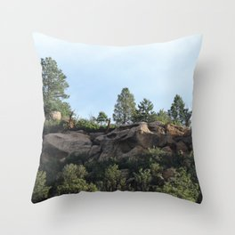Colorado Bluffs Throw Pillow
