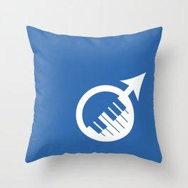 (Piano) Man Throw Pillow
