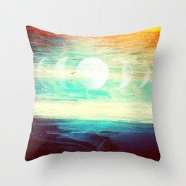 Lunar Phase Beach Throw Pillow