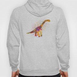 Brachiosaurus dinosaur in watercolor Hoody