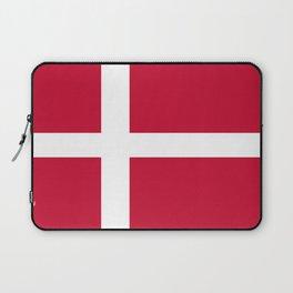 The flag of danmark Laptop Sleeve