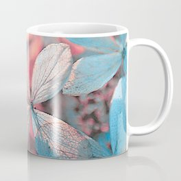 Dried Blue Pink Hydrangea Coffee Mug