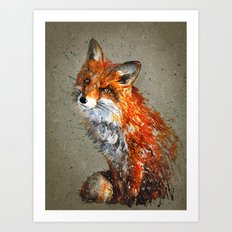 Fox background Art Print