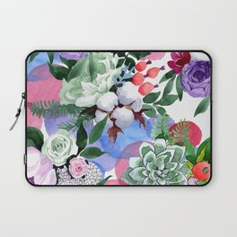Stunningly Exquisite Watercolor Floral Print Laptop Sleeve