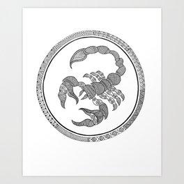 Zodiac Sign Scorpio Art Print
