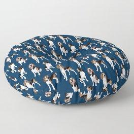 Treeing Walker Coonhounds on Navy Floor Pillow