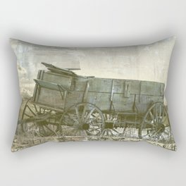Old Wagon Rectangular Pillow