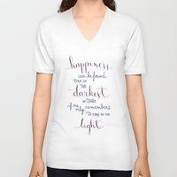 snape V-neck T-shirts featuring Happiness can be found by Earthlightened