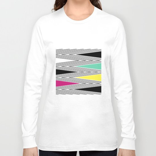 Abstract pattern of zigzag and triangles 3 . Long Sleeve T-shirt
