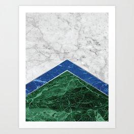 Arrows - White Marble, Blue Granite & Green Granite #220 Art Print