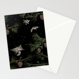 FLYING SQUIRRELS IN THE PINES Stationery Cards