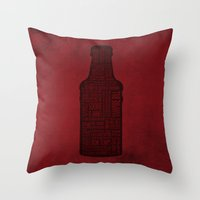true blood Throw Pillows featuring True Blood by Luke Eckstein